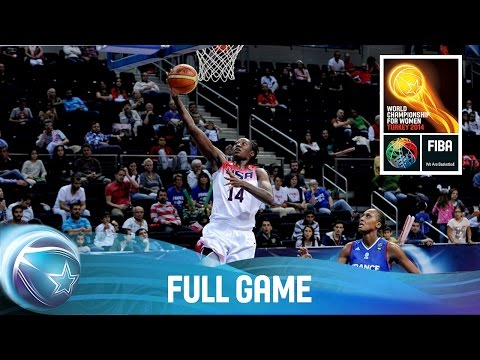 USA v France - Full Game - Quarter Final - 2014 FIBA World Championship for Women