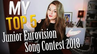 MY TOP 5 - Junior Eurovision 2018 !!  Song Song Contest