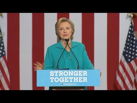 Hillary Clinton goes after Trump