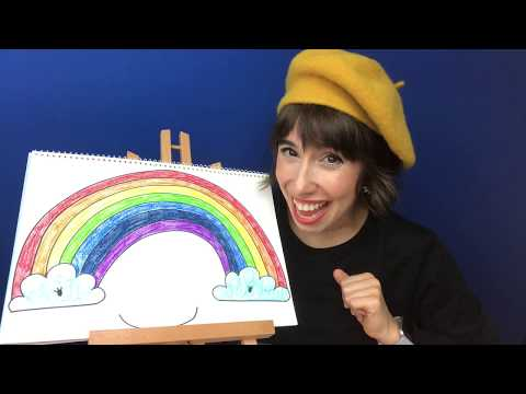 How to Draw a Colorful Rainbow for Kids   Draw Along with Bri Reads