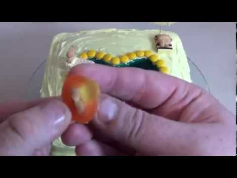 Tiny teddy gummy swimming pool cake youtube for Swimmingpool gummi