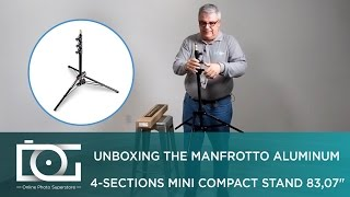 MANFROTTO 1051bac | Aluminum 4 Sections Mini Compact Stand 83,07"