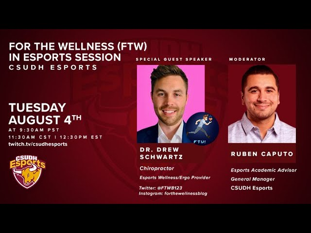 For The Wellness (FTW) in Esports w/ Dr. Drew Schwartz