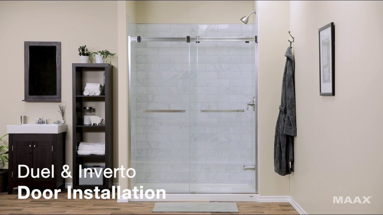 Maax Duel Inverto Shower Door Installation Video You