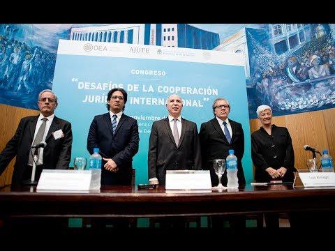 Apertura del congreso Desafíos de la Cooperación Jurídica Internacional