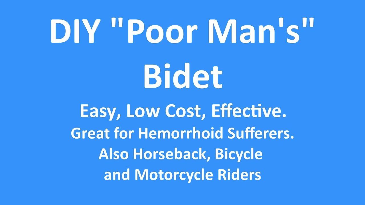 Poor Man S Bidet Diy Project In Hd Youtube