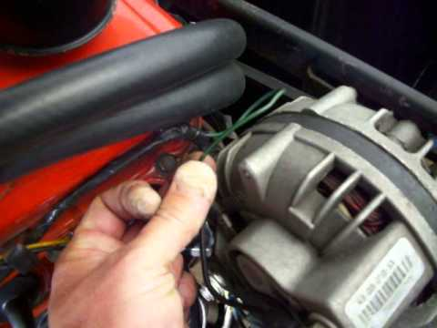60 Amp Chrysler Alternator on my 64 Valiant - YouTube