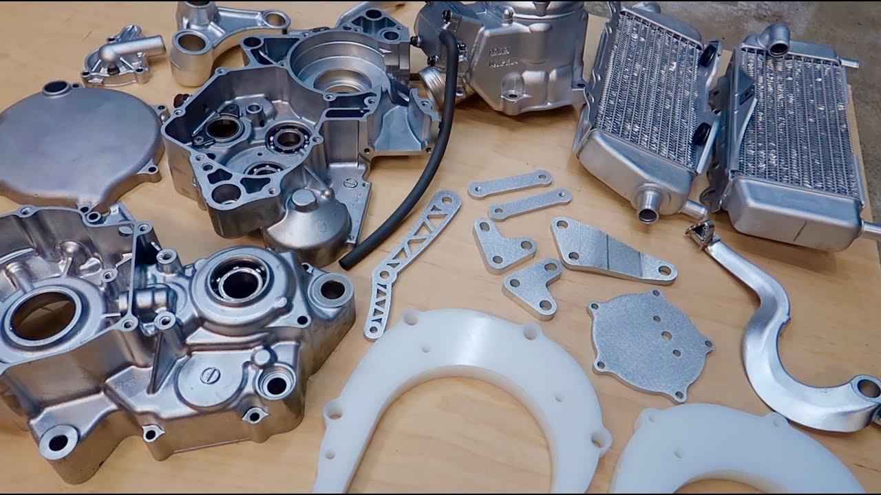 2018 KX125 Build PT  6   Conversion Kit + Vapor Blasted Parts back