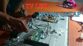 MEMPERBAIKI TV LED LG 32LF550A gambar gel4p suara ada