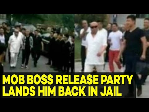 Chinese Mob Boss' Dramatic Release Party Lands Him Back in Jail DAYS Later