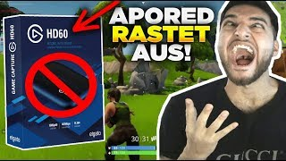 APORED DESTROYED ELGATO because of BLACKSCREEN in FORTNITE then this happens.... 😱😂