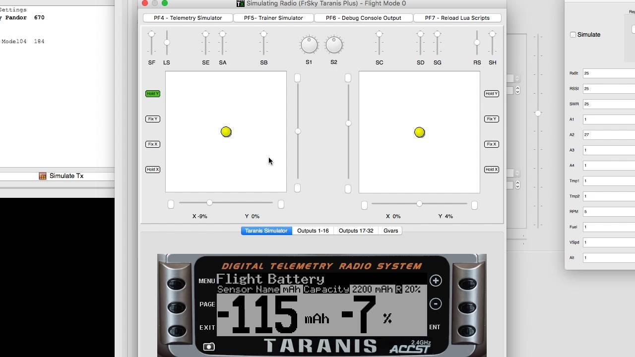 OpenTx Lua Telemetry Script Battery Capacity Remaining