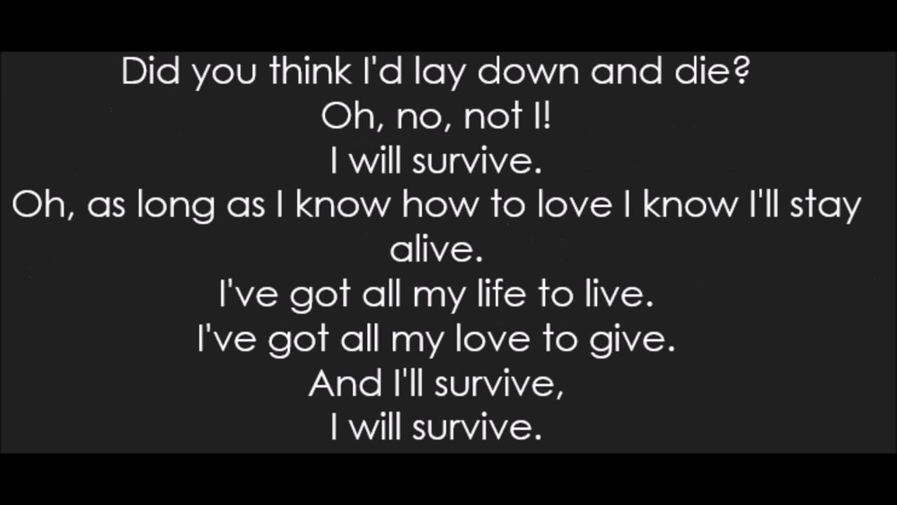 Gloria Gaynor I Will Survive Lyrics Youtube