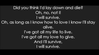 Gloria Gaynor - I Will Survive (Lyrics)