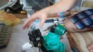 4. Підключення реле тиску до насоса.