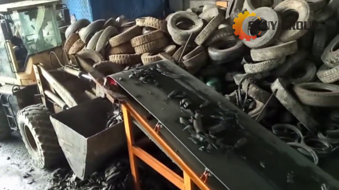 commercial tire shredding machine tire recycling plant tire pyrolsysis plant youtube