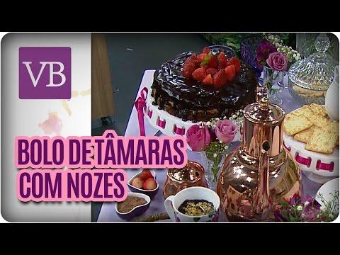 Bolo de Tâmaras com Nozes - Você Bonita (06/05/16)
