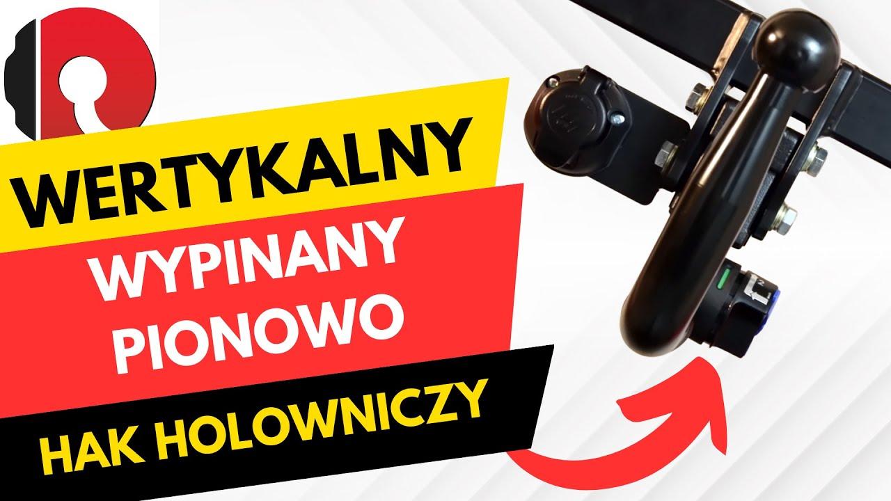 Hak holowniczy automat wypinany pionowo (wertykalny) - YouTube