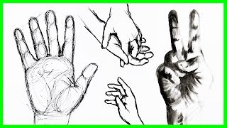 How to Draw Hands 🖐 Ways to Fill Your Sketchbook   Sea Lemon