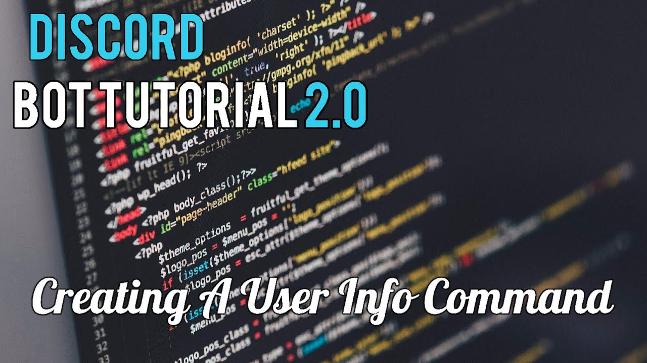 Discord Bot Tutorial 2.0 | Creating A User Info Command ...