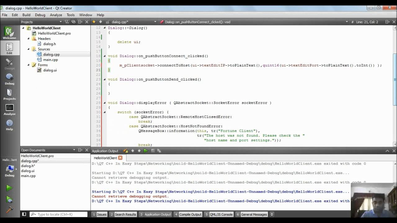 How to Develop a Basic Networking Application using QT C++|Video Tutorials