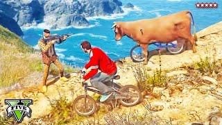 BMX COWS MOD in GTA 5 Online | EPIC Insane Cow Map | Mad Cows Riding Bikes!! | GTA 5 Funny Moments