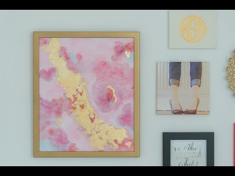 How To...DIY Abstract Painting with Acrylics and Gold Leaf