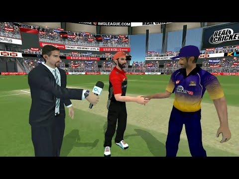 8th April Kolkata Knight Riders V Royal Challengers Bangalore Real cricket 2018 IOS Android Gameplay