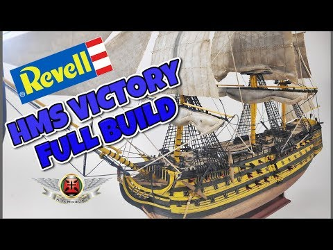 REVELL 1/225 HMS VICTORY FULL BUILD VIDEO