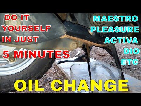 HOW TO CHANGE ENGINE OIL OF HERO MAESTRO.