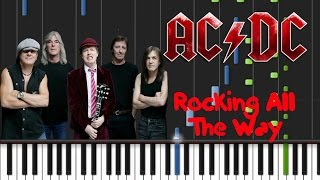 AC/DC - Rocking All The Way Synthesia Tutorial