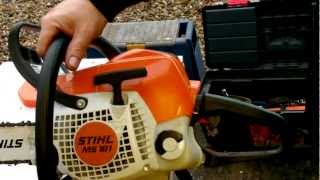 a quick look at my stihl ms 181 chainsaw