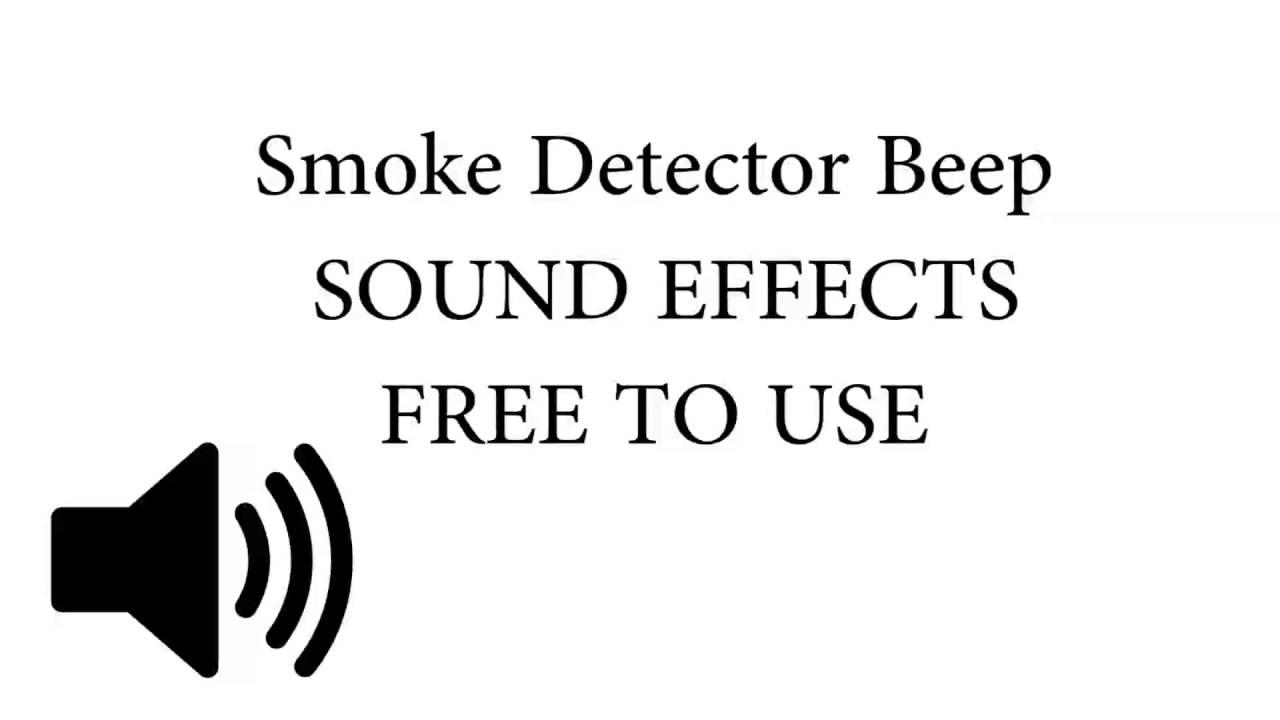 Smoke Detector Beep Sound Effect Youtube
