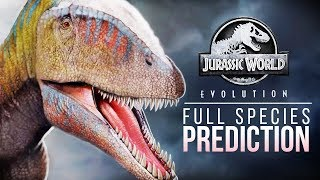 Species Prediction Mega List | Jurassic World: Evolution (& A COMPETITION)