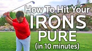 HOW TO HIT YΟUR IRONS PURE WITH THIS SIMPLE DRILL