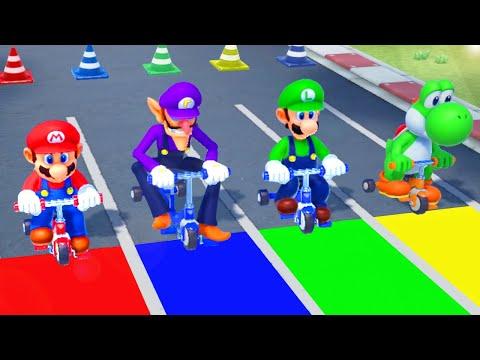 Super Mario Party MiniGames - Mario Vs Luigi Vs Wario Vs Waluigi (Master Cpu)