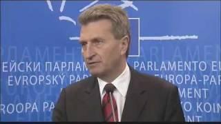 Günther Öttinger spricht