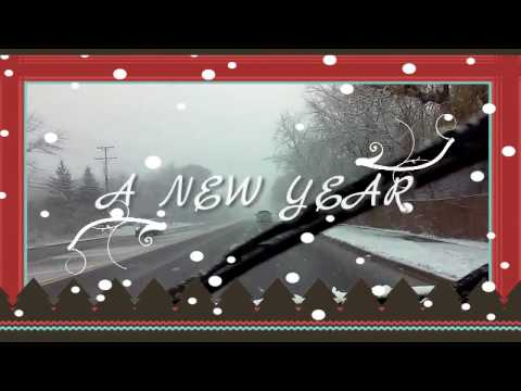 Happy New Year Greetings- Driving in the Snow- Mandy Kids Tv