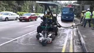 WATCH: Oil spill at Lornie Road