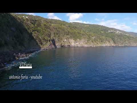 Baia da Ribeira Seca ,e a Freguesia vista do mar 2019 Calheta Ilha São Jorge Açores