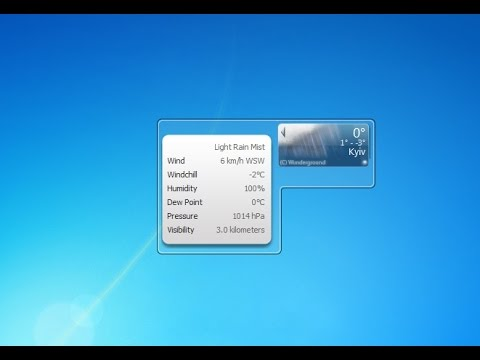 Weather Underground Windows 7 Gadget