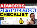 Google Adwords Optimization Checklist From An Adwords EXPERT 💰
