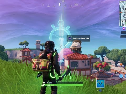 Fortnite - Complete a time trial North of Lucky Landing or East of Snobby Shores