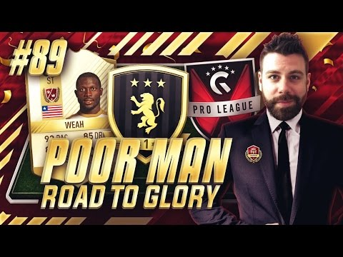 FUT CHAMPIONS REWARDS! LEGEND WEAH SQUAD!! GFINITY CUP!!! - Poor Man RTG #89 - FIFA 17 Ultimate Team