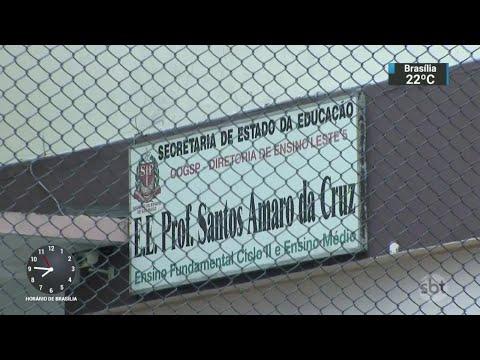 Adolescente é vítima de bala perdida em escola estadual de SP   SBT Brasil (03/04/18)