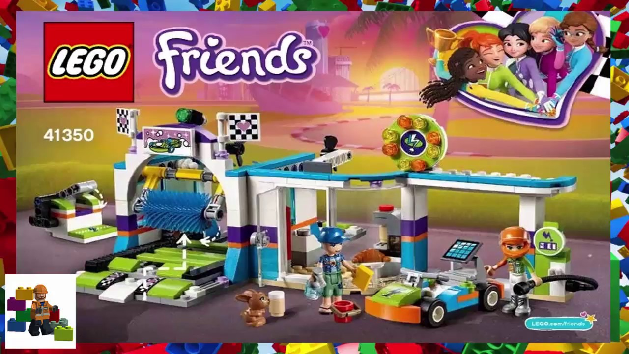 LEGO Friends Spinning Brushes Car Wash 41350 Building Set 325 Piece