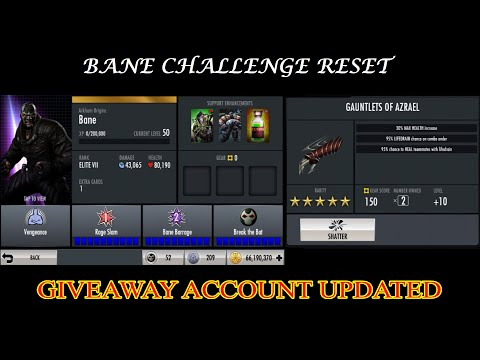 66.INJUSTICE BANE CHALLENGE RESET And GIVEAWAY ACCOUNT UPDATED