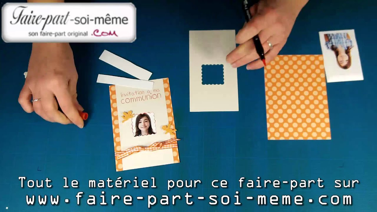 Célèbre Invitation à ma communion petit ange - faire-part communion - YouTube NU28
