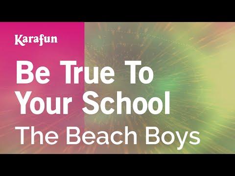 Karaoke Be True To Your School - The Beach Boys *