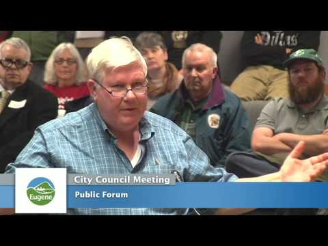 Eugene City Council Meeting: January 23, 2017